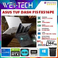 ASUS TUF DASH F15 FX516PE i7-11370H 16GB 512SSD RTX3050Ti 4GB W10 OHS