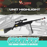 Mainan Tembakan kokang Sniper Johnson - DCobra M801 COBRA