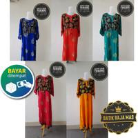 Baju Tidur Daster Batik Wanita Lengan Panjang Bahan Rayon All Size