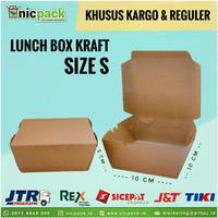 (Reguler/Kargo) Lunch Box Paper Kraft Coklat size S