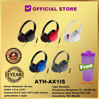 Audio Technica ATH-AX1IS Sonic Fuel Headphone Headset AX1 IS AX 1 IS