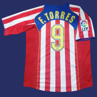 Original Jersey Madrid 2004-05 Home Torres Atletico Baju Bola Asli