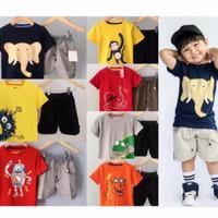 setelan baju anak motip gambar 0-5thn /setelan anak laki laki - Random, 1thn
