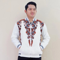 Jaket Bomber Batik / Pria/ Kekinian