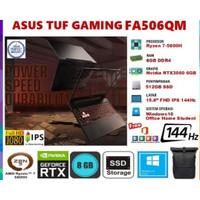 ASUS TUF GAMING A15 FA506QM RYZEN 7 5800 512SSD RTX3060 6GB W10 OFFICE