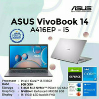 ASUS A416EP i5-1135G7/8GB/SSD 512GB/MX330 2GB/14FHD/WIN10/OHS 2019