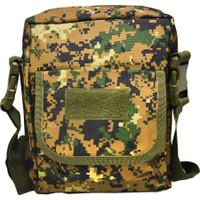 TAS SLEMPANG TACTICAL 2 SISI MILITARI OUTDOOR HUNTING BAG TS-8007 - Hijau Loreng