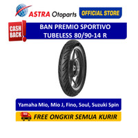 Aspira Premio Sportivo 80/90-14R Tubeless (Belakang) (01-SPO-TL80/9014