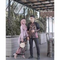 Batik couple sarimbit baju batik couple pasangan kebaya brukat modern