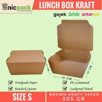 Lunch Box Paper Kraft Coklat size S