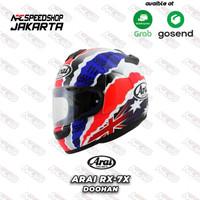 Helm Full Face ARAI RX7X Doohan - Helmet Motor Graphic Blue White