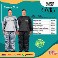 Baju Sauna Suit OMG XXL Pakaian Olahraga Jaket Celana Pria Wanita
