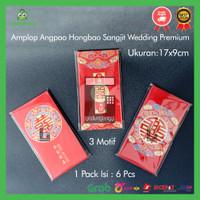 Amplop Kertas Angpao Angpau Hongbao Wedding Sangjit Shuang Xi Nikahan
