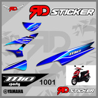 (cod) Striping Sticker MIO SPORTY SMILE desain lis racing semi full