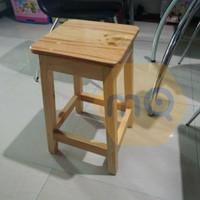 Kursi Kayu / Bangku kayu cafe size P30xL30xT50