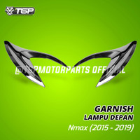 Garnish Lampu Depan Yamaha Nmax Black Chrome TGP Aksesoris Motor