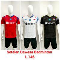 Setelan Bulutangkis Baju Badminton Dewasa L.146
