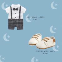 Hampers baby boy / kado gift set bayi laki laki jumper sepatu cowok - Liam 0-3m