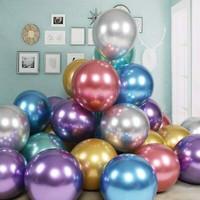 Balon Latex 18 Inch Metalik Chrome / Balon 18 inch Krom Metalic