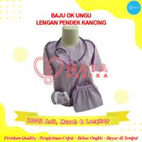 Baju OK / Ungu / Lengan Pendek / Baju Kancing / Celana Karet