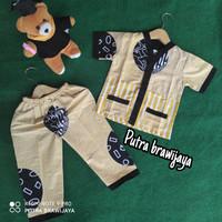 setelan baju anak umur 1 - 5 tahun/piyama batik anak motif pagar Cina