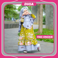 Gamis Monela Syafiqa Hijab Baju Bayi Perempuan Dress | Gaun Anak Cewek