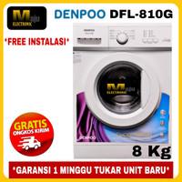 Mesin Cuci Front Loading 8 KG DENPOO DFL 8-10G