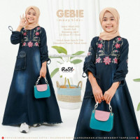 Baju Gamis Anak Muslim Perempuan Terbaru Gebie Maxi Kids Jeans Wash HQ