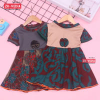 (BATIK) Dress Pita Baby uk 6-12 Bulan / Baju Lengan Anak Perempuan