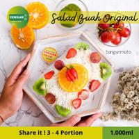 1.000ml - Salad Buah / Fruit Salad / Salad Cup Box / Cemilan to Go