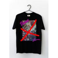 Kaos / Tshirt cowo cewe abstrak Damn - Hitam, L
