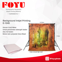 Background Foto Inkjet Printing Kapel Gereja Merah Uk 2,6x3 Mtr E-1040