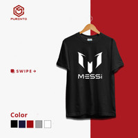 Baju Kaos Distro Premium Sepak Bola Logo Messi Keren Murah M L XL XXL
