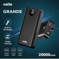 VOLTE Grande 20,000 mAh Powerbank Real Capacity Triple Input