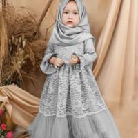 baju muslim anak perempuan - gamis brukat kids - gamis syari anak