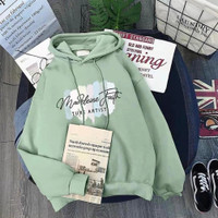 Sweater Hoodie Wanita / Pria Madeleine Peremium Terbaru Mint