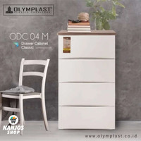 Olymplast Lemari Baju Pakaian Plastik Drawer Cabinet 4 Susun Odc 04 M