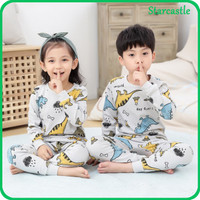 Impor Set Piyama Anak Kecil Lucu Baju Tidur Lengan Panjang Unisex