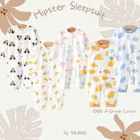 Baju bayi Piyama pakaian bayi Hachi hipster sleepsuit unisex original