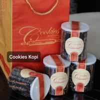 Black Coffee deBrontos Cookies Kue Kering Kopi 225 gram