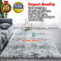 Karpet Bulu Tebal 5,5cm Empuk (Anti Selip) 150x100 / Kasur Lantai Bulu