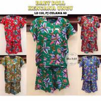 Setelan Baju Tidur Batik Wanita Baby Doll Kencana Ungu By Ulva