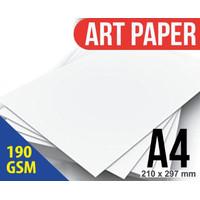Kertas Art Paper / Art Carton karton 190 Gram ukuran A4 Putih Glossy