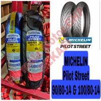 90/80-14 & 100/80-14 Michelin Pilot Street Sepasang Ban Motor Ring 14