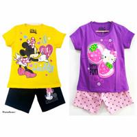 Setelan kaos baju anak perempuan size 1 2 3 4 5 6 7 8 9 10 tahun #2265