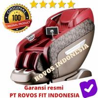 Kursi Pijat Rovos R775W 3D Premium Coffee RED - Merah