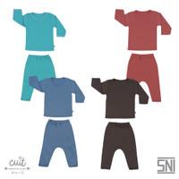 CUIT Setelan Tangan Panjang Block Color Kojo Series
