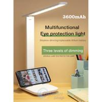 Lampu Meja Belajar Kerja Desk Lamp 3 Mode LED - Dimmable - Usb Charge