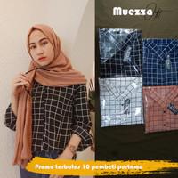 Atasan Wanita Baju Blouse Kemeja Kotak Jumbo Blus Square Big size XL