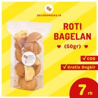 Snack Cemilan Delish Snacks Roti Bagelan Bagelen Size S 50gr Enak